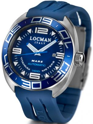 Locman Mens Mare Chrono Automatic Water Resistant Watch Blue 139BL Image