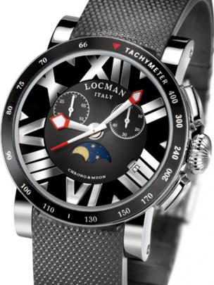 Locman Mens Toscano Watch Black 294TKBKNNNKCGOK Image