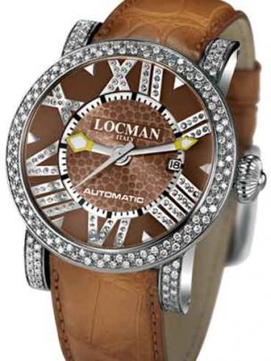 Locman Mens Toscano Diamond Watch Brown 290POBNNDNCAON Image