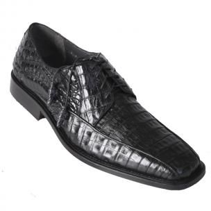 Los Altos Caiman Belly Bicycle Toe Shoes Black Image