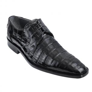 Los Altos Caiman Belly Derby Shoes Black Image