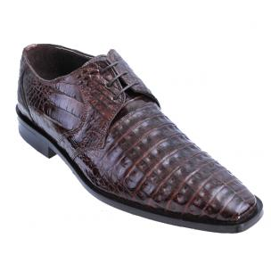 Los Altos Caiman Belly Derby Shoes Brown Image