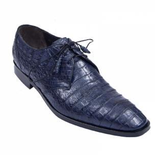 Los Altos Caiman Belly Derby Shoes Faded Navy Image