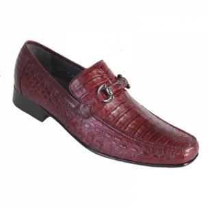 Los Altos Caiman Bit Loafers Burgundy Image