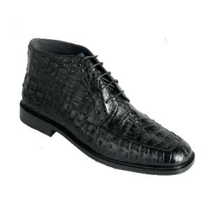 Los Altos Caiman Belly Boots Black Image