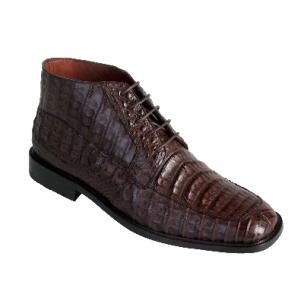 Los Altos Caiman Belly Boots Brown Image