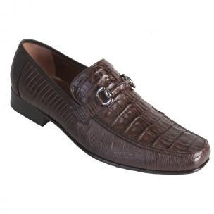 Los Altos Caiman & Lizard Bit Loafers Brown Image