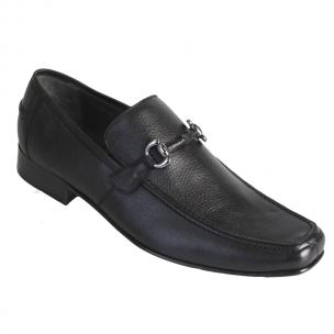 Los Altos Deerskin Bit Loafers Black Image