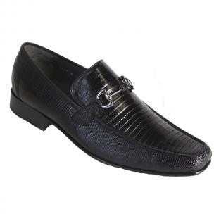 Los Altos Lizard Bit Loafers Black Image