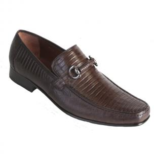 Los Altos Lizard Bit Loafers Brown Image