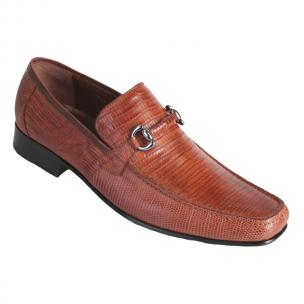 Los Altos Lizard Bit Loafers Cognac Image