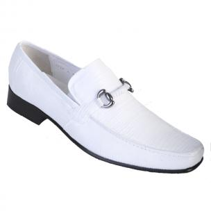 Los Altos Lizard Bit Loafers White Image
