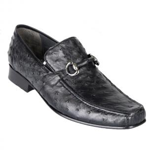 Los Altos Ostrich Quill Bit Loafers Black Image