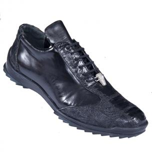 Los Altos Ostrich Sneakers Black Image