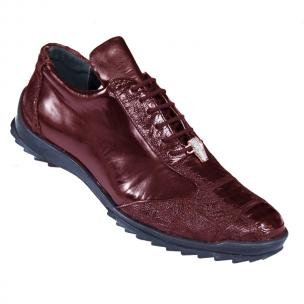 Los Altos Ostrich Sneakers Burgundy Image