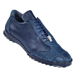 Los Altos Ostrich Sneakers Navy Blue Image