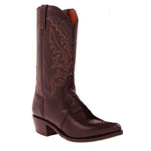 Lucchese M2901.J4 Lizard Boots Black Cherry Image