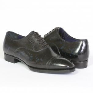 Massimiliano Stanco Goodyear Welted Oxfords Navy / Black Image