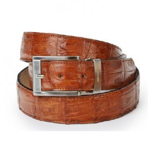 Mauri 100-35 Hornback Crocodile Belt Cognac Image