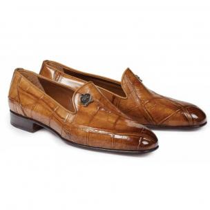 Mauri 1017 S Ghiberti Alligator Loafers Brandy Image