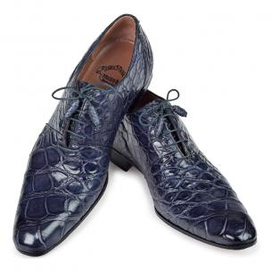 Mauri 1078 Alligator Oxfords Charcoal Gray (SPECIAL ORDER) Image