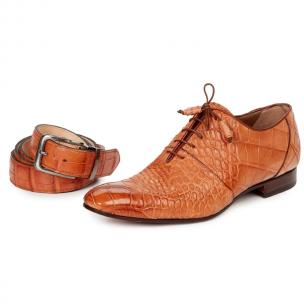 Mauri 1078 Echo Alligator Oxfords Cognac (SPECIAL ORDER) Image