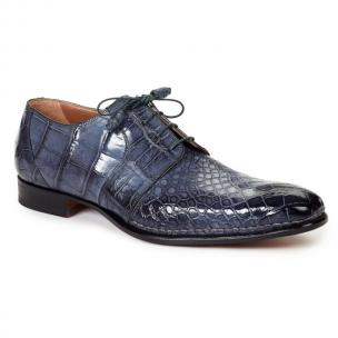 Mauri 1192 Balzac Alligator Derby Shoes Charcoal Gray Image