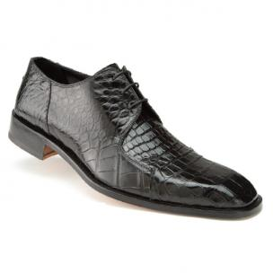 Mauri Pitti 2982 Baby Alligator Derby Shoes Black (SPECIAL ORDER) Image