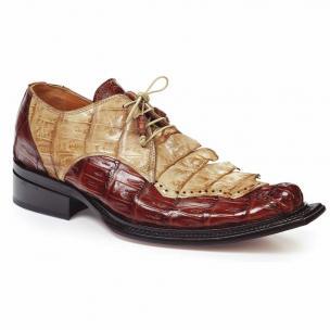 Mauri 44209 Crocodile & Hornback Shoes Camel / Bone Image