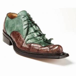 Mauri 44209 Giotto Crocodile & Hornback Shoes Hunter Green / Sport Rust Image