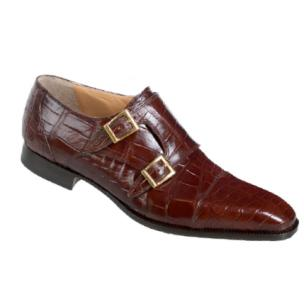 Mauri 4560-1 Alligator Monk Strap Shoes Gold (SPECIAL ORDER) Image