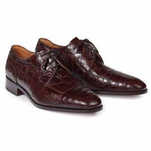 Mauri 4598 Brunelleschi Crocodile Cap Toe Shoes Sport Rust Image