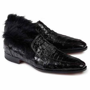 Mauri 4615 Romeo Crocodile & Hornback Loafers Black Image