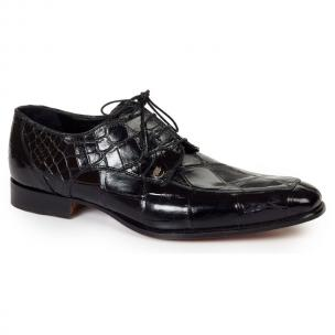 Mauri 4642 Arsenal Alligator Split Toe Shoes Black (SPECIAL ORDER) Image