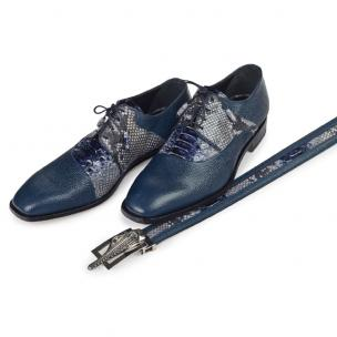 Mauri 4694 Aspide Pebble Grain & Python Shoes Navy Image