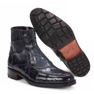 Mauri 4701 Albricci Crocodile & Alligator Winter Boots Charcoal Gray (SPECIAL ORDER) Image