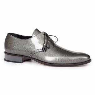 Mauri 4801 Mantegna Patent Leather Shoes Gray Image