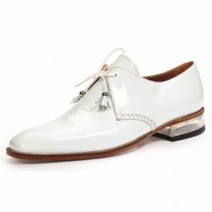 Mauri 4801 Mantegna Patent Leather Shoes White Image