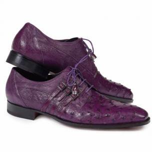 Mauri 4820 Donatello Ostrich Derby Shoes Violine Image
