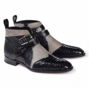 Mauri 4828 Bellini Python & Lizard Boots Black / Gray Image
