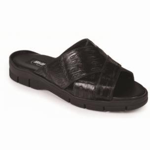 Mauri 5018 Cagnola Crocodile Sandals Black Image
