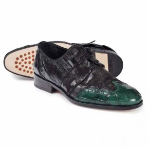 Mauri 53124 Caracalla Alligator & Crocodile Wingtip Shoes Hunter Green / Black Image