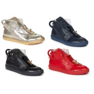 Mauri 6115 Toledo Nappa Lock & Key Hi Top Sneakers Image
