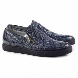 Mauri 8508 Bernini Alligator Side Zipper Sneakers Gray Image