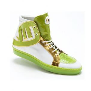 Mauri 8617 Mojito Nappa & Croco Sneakers Lime / White Image