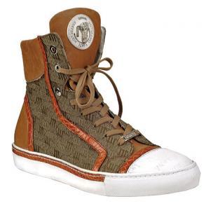 Mauri 8788 Nappa & Fabric Sneakers Cognac Image