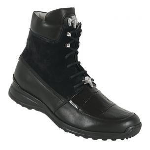 Mauri 8790 Suede & Nappa & Alligator Sneakers Black Image