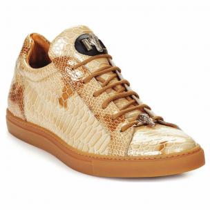 Mauri 8825 Patent Leather Sneakers Beige Image