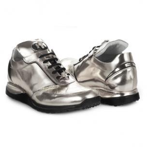 Mauri 8923 Metal Crocodile & Calfskin Sneakers Image