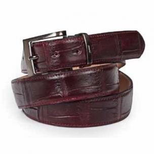 Mauri Alligator Belt Burgundy Image